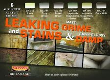LIFECOLOR Leaking Grime Matt  Stains & Damp Satin Glossy Acrylic Paint Set 6