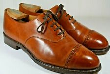 Cheaney Cap Toe Dress Shoes Brown Size 7.5 D Made in England
