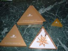 stella di natale 2009 dorata swarovski