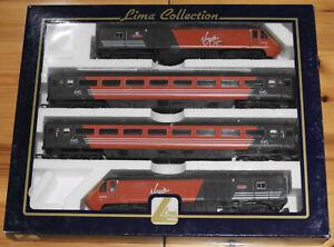 OO Lima 149859 125 HST Virgin Cross Country 4-Piece Train Pack Near Mint in Box