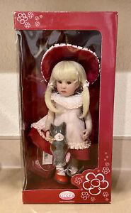 """Gotz 11"""" NELLA w/ Kitty Cat, doll artist Beatrice Perini NRFB"""