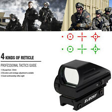 Tactical Red/Green 4 Reticle Dot Reflex Optical Sight Scope 20mm Rail+tracking