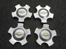 "4 OEM Chevrolet Monte Carlo Impala Center hub Cap For 16"" Wheel Gold Bowtie x4"