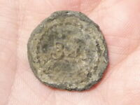 British 34th Foot Regiment Dug Up Pewter Napoleonic Button 22mm a/f #MB4