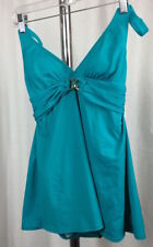 Michael Kors Womens Teal Green One Piece Empire Style Bathing Suit NWT Size 4