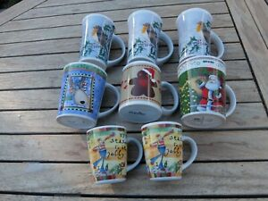 8 x  Christmas Mugs - Tableware -