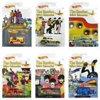Hot Wheels The Beatles Yellow Submarine Limited Edition Set of 6 Diecast Cars