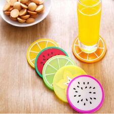 6pcs Silicone Placemat Fruit Coaster Cushion Mug Cup Holder Tea Cup Pad Mat Cute