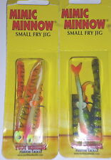 "Northland Tackle Small Fry Mimic Minnow Jig (Lot of 2-2"" & 1.5"" Tails-With Jigs)"
