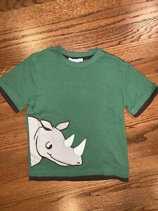 Janie And Jack NWT Sz 5 Spring Green Rhino Top Tee