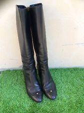 Tres belles bottes cuir noir Louis Vuitton authentique 37,5