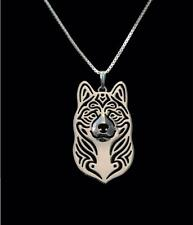 American Akita Silver Charm Pendant Necklace, Dog Lover, Friend Gift