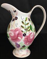 Blue Ridge China Rebecca Hand Painted Pitcher Southern Potteries Underglaze