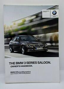 GENUINE BMW 3 SERIES SALOON (F30) HANDBOOK OWNERS MANUAL 2012-2017 BOOK