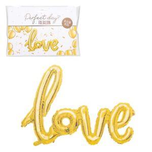 Perfetto Giorno Inflate Proprio Lamina Testo 'Love' Palloncino Matrimoni Giorno