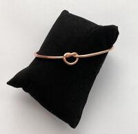 Women's Fashion Jewelry Open Metal Bangle Bracelet Love Knot Rose Gold