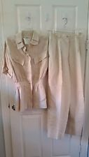 Chanel Wheat Linen Pant Suit - Size S