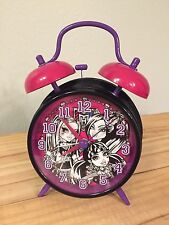 Monster High Bell Alarm Clock Black Purple And Pink