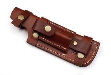 Custom Handmade Horizontal Left Hand Knife Leather Sheath Brown C1