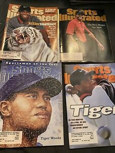 Lot of 4 Tiger Woods golf covers- Sports Illustrated