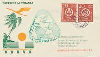 BUNDESREPUBLIK 1956 Flugdienst Eröffnung n Südamerika DÜSSELDORF - DAKAR Senegal