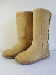 UGG Australia Classic Tall Size 8 Boots Brown Rare Vintage 80s Sheepskin Leather