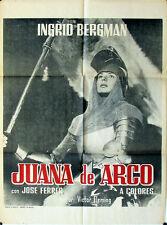 360 Joan of Arc, original Mexican movie Poster, Ingrid Bergman, Juana de Arco
