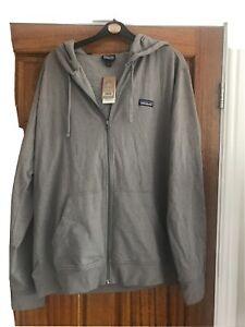 Mens large Patagonia Zipped Hoodie Brand New In Grey