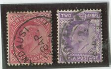 India Stamps Scott  #62,63 (2) Used,F-VF  (X6751N)
