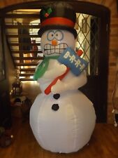 SHIVERING OUTDOOR INFLATABLE CHRISTMAS  SNOWMAN 1.8 M ( SHAKING ) gemmy