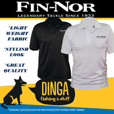Fin-Nor Embroidered Polo Fishing Shirt Large - Black