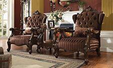 Acme Furniture 52082 Versailles Chair w/1 Pillow, Brown Velvet & Cherry Oak New