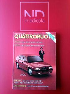 QUATTRORUOTE 412 FEBBRAIO 1990 - ALFA ROMEO 331.3 - 1.7 16V  FIAT TIPO 1.9 TDSX