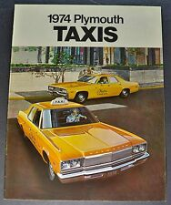 1974 Plymouth Taxi Catalog Sales Brochure Fury Satellite Excellent Original 74