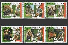 Football Senegal (38) série complète 6 timbres oblitérés
