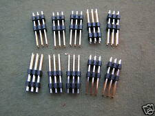 """Header Plug 6 Way DIL Double Insulator Strip 2.54mm (0.1"""") 10 Pieces OM0981"""