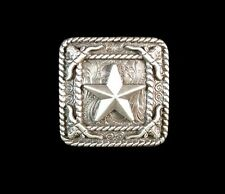 "Screw Back 1 1//4/"" Silver Concho with Gold Star and Longhorn VF-W457GS"
