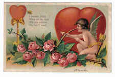 Child Angel Cupid Bow Arrow Heart Roses Valentines Day