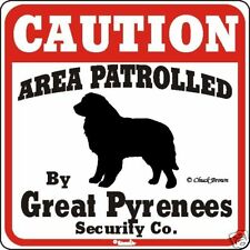 Great Pyrenees Caution Dog Sign