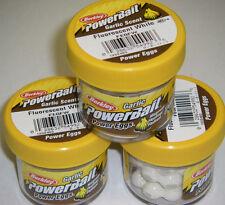 Berkley Powerbait GARLIC SCENT Power Eggs 3 pk FL White FEGFW *NEW* ice fishing