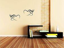 2 CUORI LOVE cucina sala camera da letto Wall art Adesivi Decalcomanie fai da te