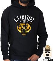 Khabib Nurmagomedov Hoodie Gold BEAR ufc MMA Fight Time Black Top Mens XS - XXL