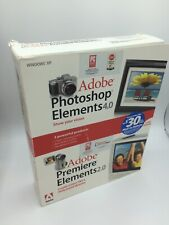 Adobe Photoshop Elements 4 & Premiere Elements 2 for Windows XP ~ Sealed New