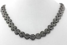 Vintage Deco Sterling-Silver Marcasite Necklace