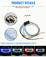 2x 45CM LED Daytime Running Lamp Strip Light Sequential Flowing Turn Signal  DRL