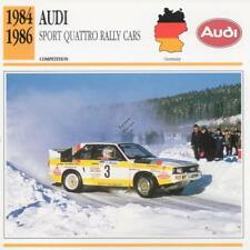 1984-1986 AUDI SPORT QUATTRO Rally Racing Classic Car Photo/Info Maxi Card