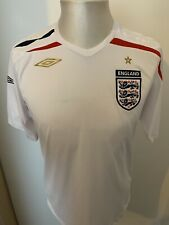 bf4d61db Mens Smart White England Football Shirt/Top 2007-2009 *UK Size Medium*