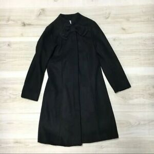 Gymboree Girls Black Wool Coat with Bow; Sz 7/8 Kids; New Without Tags