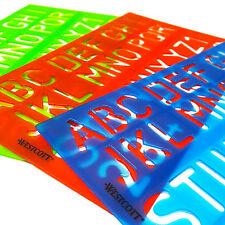 Westcott Alfabeto e Numeri Stencil-casuale COLORI ASSORTITI-singolo Stencil