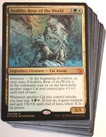 ***Custom Commander Deck*** Arahbo, Roar of the World MINT EDH Cats Magic Cards